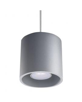 Lampa wisząca PLUTON 1pł. szara