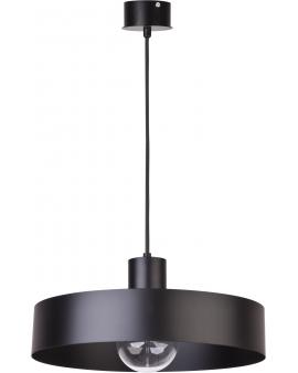 Minimalistyczna LAMPA wisząca RIF L Ø35CM 30895 SIGMA oryginalna okrągła metalowa oprawa LOFT zwis forma koło czarny