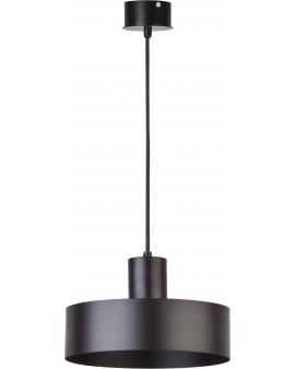 Metalowa lampa wisząca Rif M okrągła oprawa zwis czarny 30896 SIGMA