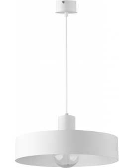 Lampa wisząca Rif L metalowy biały klosz okrągły 30901 SIGMA 24h!