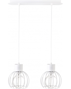 Lampa wisząca LUTO koło 2 biały retro edison 31166 SIGMA 24H!