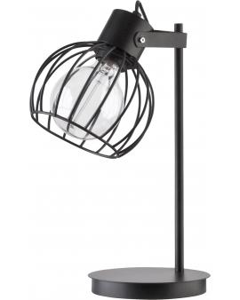 Lampa stołowa Luto koło czarny loft metal siatka 50086 SIGMA