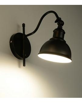 Kinkiet loft vintage MARE 1 czarny skandynawski
