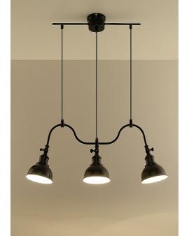 Lampa loft vintage RIO 3 czarny skandynawska 24h!
