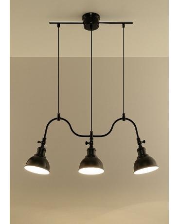 Lampa Loft Vintage Retro Rio 3 Czarny Ekelund Markslojd Skandynawska