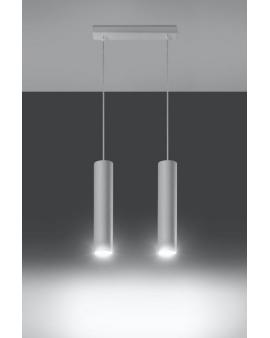 Lampa wisząca LAGOS 2 biała.