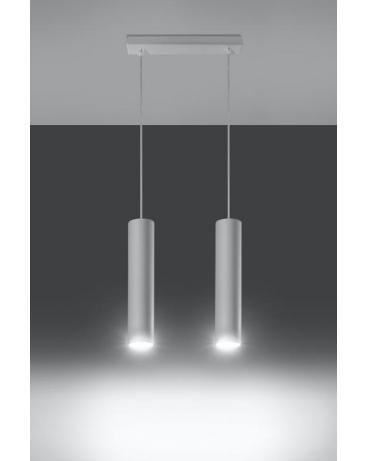 Lampa wisząca LANCA 2 biała.