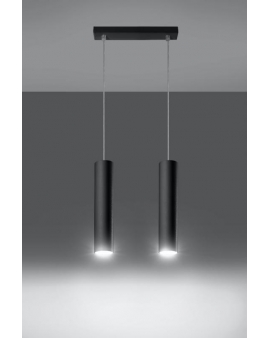 Lampa wisząca Lanca 2 czarna 24h!
