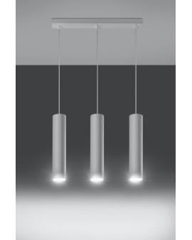 Lampa wisząca Lanca 3 biała 24h!