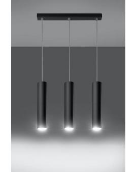 Lampa wisząca Lanca 3 czarna 24h!