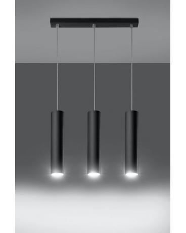 Lampa wisząca LANCA 3 czarna.