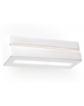 Kinkiet LAMPA ścienna LEVY LINE ceramiczna OPRAWA prostokątna biała.