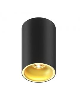 Downlight LAMPA sufitowa ROUND OPRAWA natynkowa minimalistyczny PLAFON LED okrągły tuba czarna