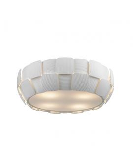 Plafon LAMPA sufitowa FASAN OPRAWA metalowa okrągła biała kwadraty