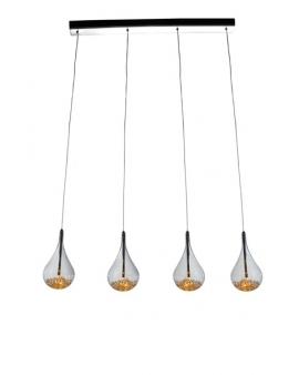 LAMPA wisząca ILLUMA 4 dekoracyjna OPRAWA kryształki crystal przezroczysta
