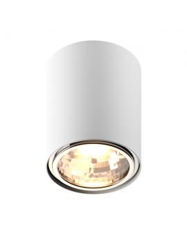 LAMPA sufitowa KAST Koło LED! natynkowa DOWNLIGHT metalowa ruchoma minimalistyczna oczko SPOT biały