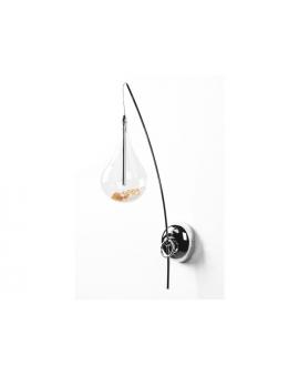 Kinkiet LAMPA ścienna W0226-01A-F4RK ZUMA PERLE dekoracyjna OPRAWA kryształki glamour crystal chrom przezroczysta