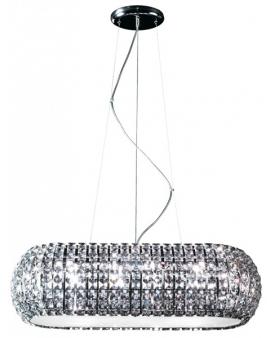 Kryształowa LAMPA wisząca P0174-10A-F4AC ZUMA ANTARCTICA 10L