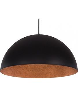 Lampa wisząca SFERA 35cm czarny/miedziany