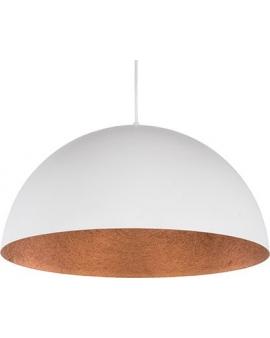 Lampa wisząca SFERA 35cm biały/miedziany