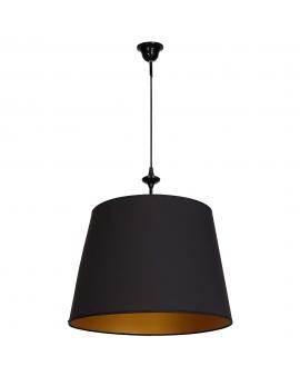 Lampa wisząca CHOCCO 1pł. abażurowa Oprawa klasyczna okrągła czarny/złoty
