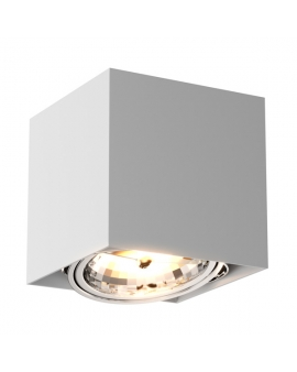 WYS. 24H! Downlight LAMPA sufitowa KAST 1 minimalistyczna OPRAWA metalowa SPOT kostka kwadratowa biała TUBA