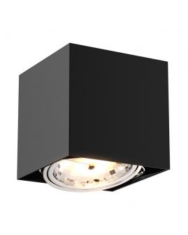 LAMPA sufitowa 0432-G9 ZUMA BOX SL 1 LED! natynkowa DOWNLIGHT metalowa minimalistyczna oczko SPOT czarny