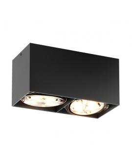 LAMPA sufitowa KAST 2 LED! natynkowa DOWNLIGHT metalowa minimalistyczna oczko SPOT czarny