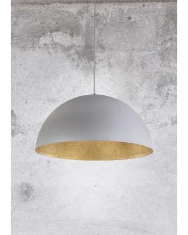 Lampa wisząca SFERA 35cm szary nakrapiany/złoty
