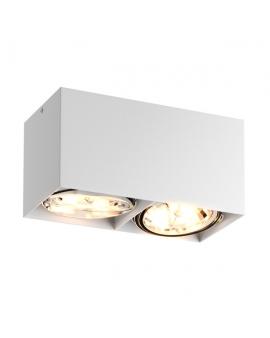 LAMPA sufitowa 89949-G9 ZUMA BOX SL 2 LED! natynkowa DOWNLIGHT metalowa minimalistyczna oczko SPOT BIAŁY
