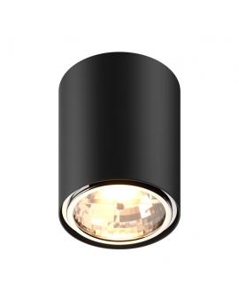 LAMPA sufitowa KAST Koło LED! natynkowa DOWNLIGHT metalowa ruchoma minimalistyczna oczko SPOT czarny