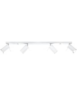 Spot LAMPA sufitowa RING 4xGU10 biały REGULOWANE reflektory szyna LISTWA metalowa