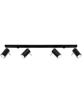Spot LAMPA sufitowa RING 4xGU10 czarny REGULOWANE reflektory szyna LISTWA metalowa