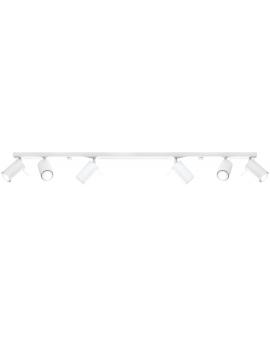 Spot LAMPA sufitowa RING 6xGU10 biały REGULOWANE reflektory szyna LISTWA metalowa