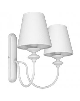 Kinkiet LAMPA ścienna RAFAELLO 2pł. 932D ALDEX abażur Oprawa klasyczna biały