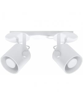 WYS. 24H! Plafon LAMPA sufitowa PLUTON 2 minimalistyczna metalowa OPRAWA reflektorek SPOT tuba biała