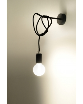Lampa ścienna sznur SPIDER BLACK