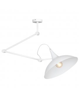 Nowoczesna lampa sufitowa łamana zwis MELOS WHITE 808PL/G