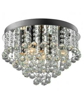Ekskluzywny Żyrandol kryształowy glamour MATERA 5 z kryształkami
