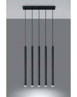 LAMPA wisząca ROLLER listwa 5/G9/25mm/CZ