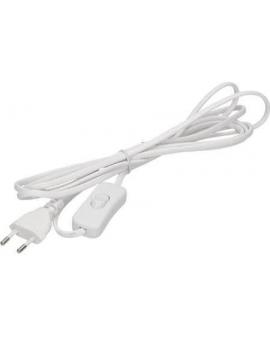 Kabel zasilający z wyłącznikiem biały