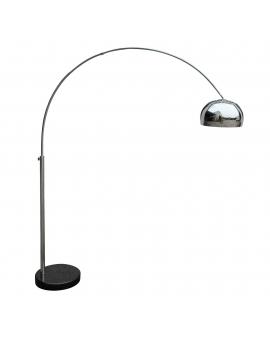 Designerska Lampa STOJĄCA SOHO na ramieniu do czytania LED chrom