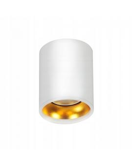 Lampa Sufitowa Halogen LATI Plafon biały spot LED gold GU10