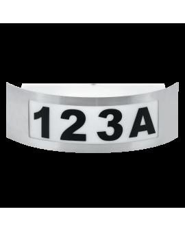 WYS.24H! PLAFON OPRAWA ŚCIENNA NELI PODŚWIETLONY NUMER DOMU E27