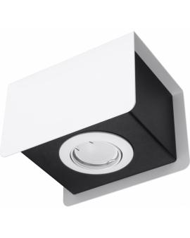 WYS. 24h! LAMPA Sufitowa MONO PLAFON ruchomy Metalowy Biały/Czarny
