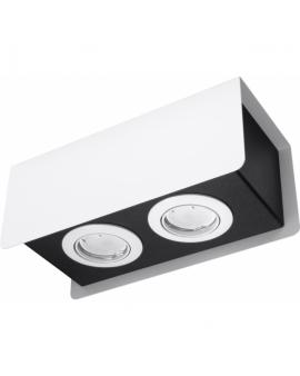 WYS.24H! LAMPA Sufitowa MONO 2 PLAFON ruchomy Metalowy Biały/Czarny