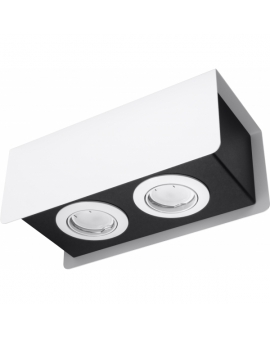 WYS.24H! LAMPA Sufitowa HIKARI 2 PLAFON ruchomy Metalowy Biały/Czarny
