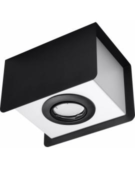 WYS.24H! LAMPA Sufitowa MONO PLAFON ruchomy Metalowy Biały/Czarny