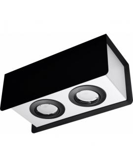 WYS.24H! LAMPA Sufitowa MOO 2 PLAFON ruchomy Metalowy Czarny/Biały