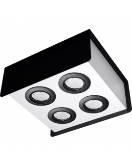 WYS.24H! LAMPA Sufitowa MONO 4 PLAFON ruchomy Metalowy Czarny/Biały